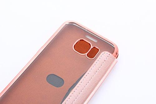 Iphone 7 Plus Hülle,E-Lush Premium PU Leder Multifunktions Magnetverschluss Geldbörse Handytasche Etui Case Cover Schutzhülle für Iphone 7 Plus Klapphülle 360 Full Body Protection Flip Case Wallet Cov Rosa