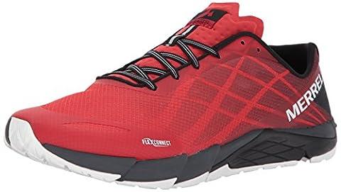 Merrell Bare Access Flex, Chaussures de Running Compétition homme - Rouge (High Risk Red) - 44 EU (9.5 UK)