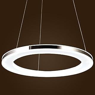 KJLARS Modernen LED Pendelleuchte Metall Acryl Hängelampe runde Leuchtmittel