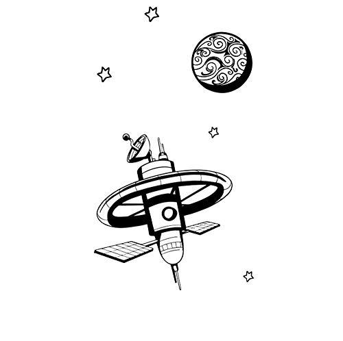 Kreative Wandaufkleber Luft- und Raumfahrt Serie Kreative Raum Satelliten Aufkleber Jungen Tapete Schlafzimmer Wohnzimmer Hintergrund Wohnkultur Kindergarten Pvc -