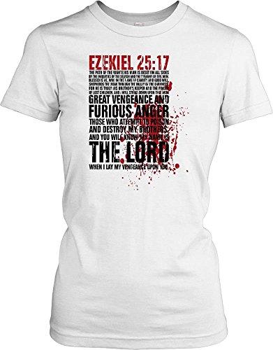 Ezekiel 25:17 Pulp Fiction Bible Quote Ladies T Shirt - Movie & TV