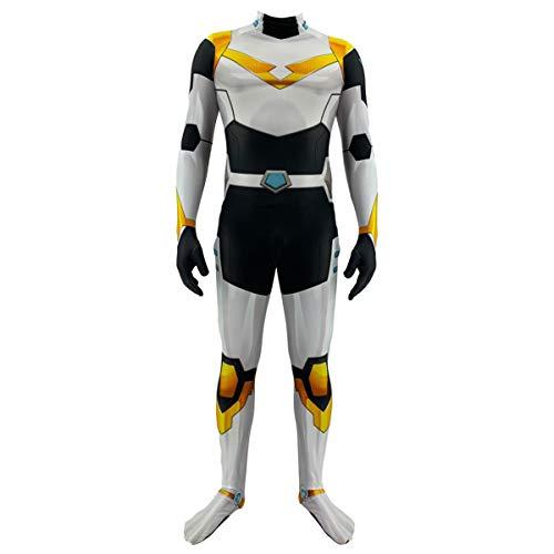 QQWE Voltron Cosplay Kostüm Erwachsene Kinder Verteidiger des Universums Kostüm Kleidung Weihnachten Halloween Show Superheld Body Overalls,Yellow-Adult~M