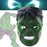 Kent MarkS New The Avengers Hulk - Máscara de flash LED para cosplay, juguetes para niños