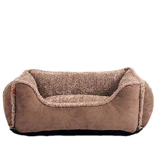 Alle Abnehmbare Waschbeständige Bite Elefanten Stripe Fabric Pet Kissen Golden Tildy Bear Teddy Vier Jahreszeiten General Doghouse Weiche und Bequeme Cat Couch: 55 * 45Cm / Brown (Extender Fabric)