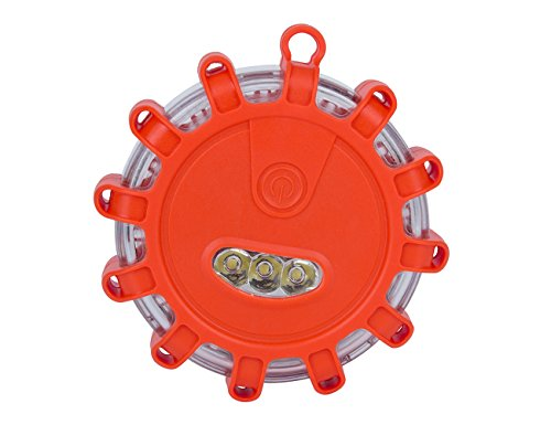 Hakkin, Blinkendes LED-Warnlicht für Auto, LKW, Boot, mit Haken und magnetischem Sockel (Militär-auto-magneten)