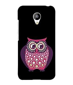 PrintVisa Designer Back Case Cover for Meizu M2 (pink purple owl dark background)