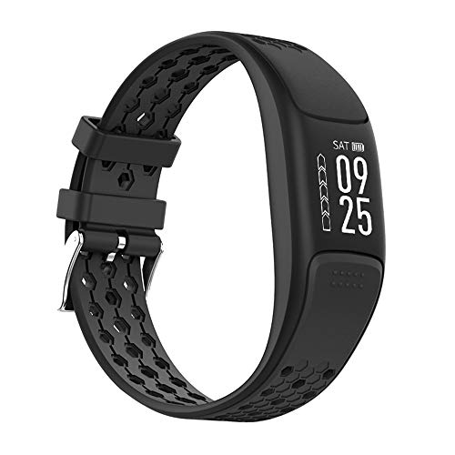 GLDMT P8 Smart Sportarmband, Herzfrequenzmessschritt Bluetooth Mehrere Sportarten, GPS Wasserdichtes Multifunktionsarmband, Unisex,Black