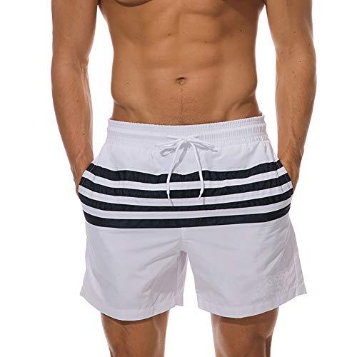 zx-shop Herren-Strandhose wasserdichte Luftdurchlässige Herren-Badehose Gerade Zylinder Seaside Holiday Shorts -