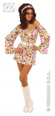 70er Jahre Kostüm mit Herzen für Damen (70er Jahre Party Outfits)