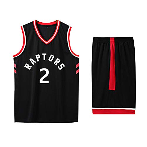 Toronto Raptors Kawhi Leonard Kyle Lowry # 2# 7 Basketballtrikot XS-XXXL - 90er Jahre Kleidung Kostüm Sportbekleidung Top Bonus Combo Set mit Armbändern-2-M