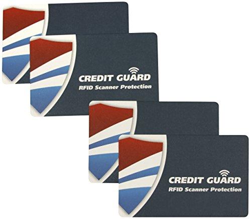 Kreditkarten Guard RFID-Scanner Blockieren Karten, Set 4 -