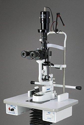 Miko 5de paso lámpara de hendidura bio de microscopio con mesa motorizado