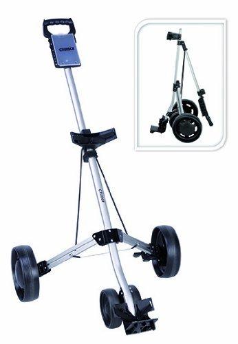 Cruiser - Carrello da golf a 4 ruote, colore: Argento