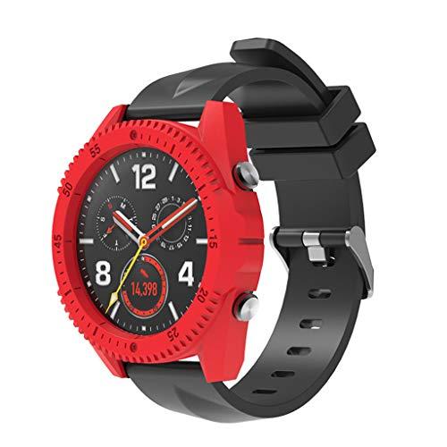 LILICAT_Watch Mode Sport Uhr Gehäuseabdeckung Edelstahl Ultra-schlanke Bunte Harte PC-Gehäuse-Abdeckung + 3PCS Glasfolie für HW Uhr GT -