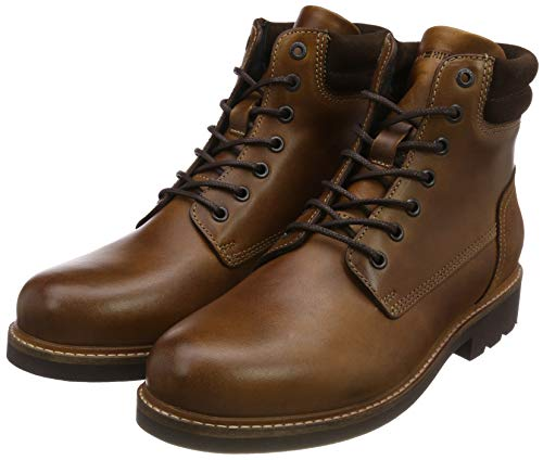 Tommy Hilfiger Herren Active Leather Combat Boots, Braun (Winter Cognac 906), 41 EU