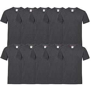 Fruit of the Loom 10 T Shirts V-Neck M L XL XXL V-Ausschnitt Diverse Farben -HL-Kauf