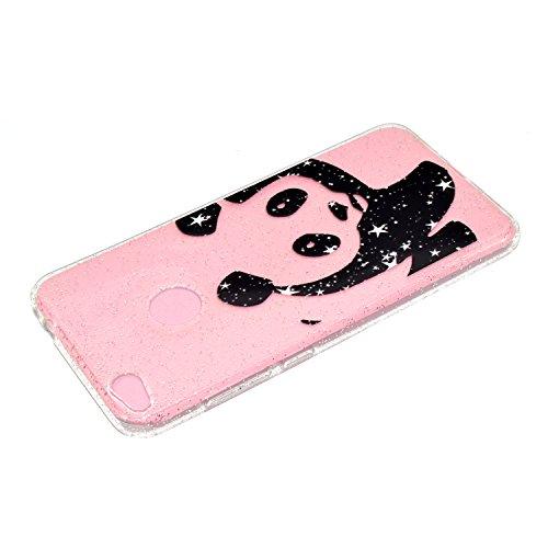Cover iPhone 5 Silicone, Custodia iPhone SE Glitter, Funluna Custodia Brillante Bling Glitter Cover Ultra Sottile Trasparente Silicone Gel Antiurto Protettiva Bumper Case per Apple iPhone 5 / 5S / SE Panda