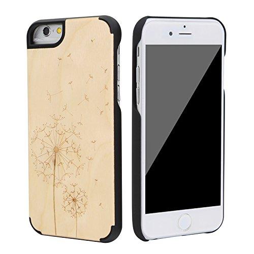 """SunSmart Klassische hölzerne Abdeckung iPhone 6 Natural Wood Schutzhülle für iPhone 6 4.7"""" --39 29"""