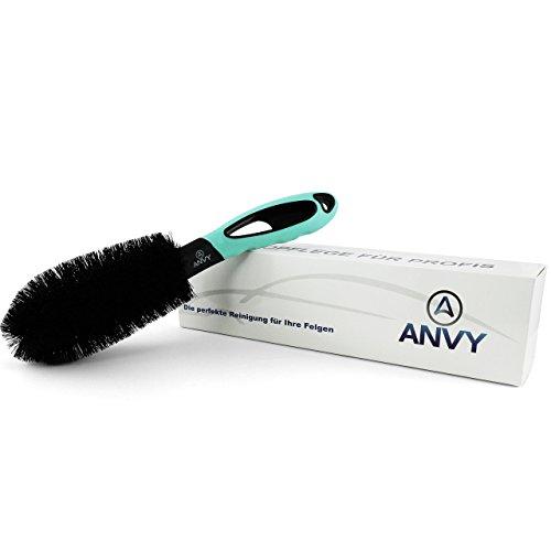 ANVY Verbesserte Felgenbürste für eine schonende und effiziente Reinigung von Alu- und Stahl Felgen. Mit Anti-Kratz Technology, eine Reinigungsbürste für Ihr Auto, Motorrad oder Fahrrad