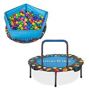 SMARTRIKE 920–0000de 3en 1Niños trampolín, Color Azul