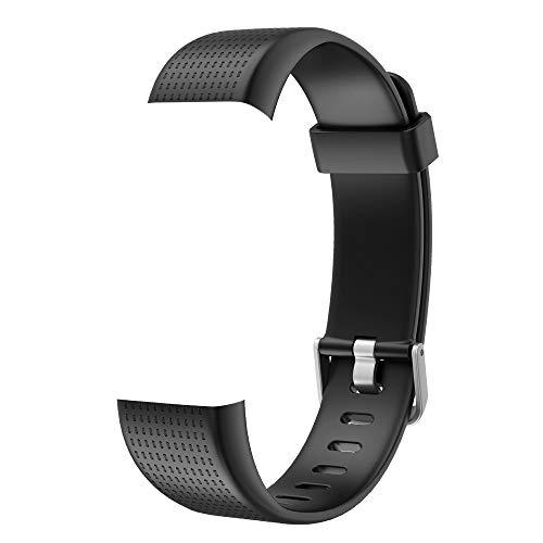 Willful Ersatz Armband Fitness Armband mit Pulsmesser (Schwarz)
