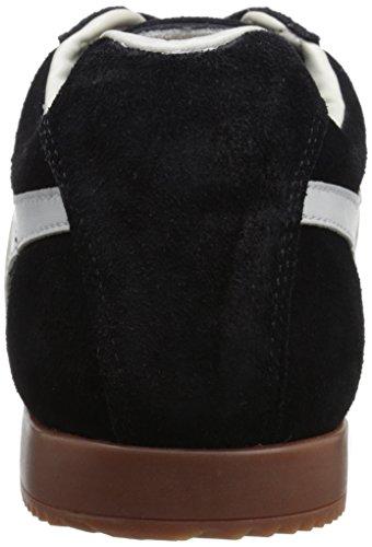 Gola Harrier Suede, Baskets Basses Homme Noir - Black (Black/Grey/Grey)