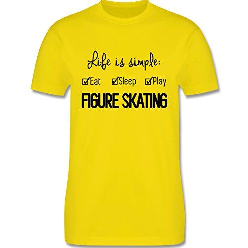 Wintersport - Life is simple Figure Skating - Herren Premium T-Shirt Lemon Gelb