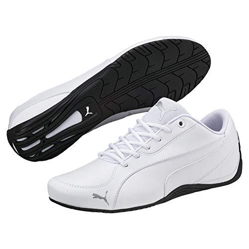 PUMA Puma Unisex Sneakers Drift Cat 5 Core - Flache Turnschuhe für Damen und Herren im coolen Motorsport-Style Drift Cat 5 Core Puma White 9.5 Low Top Schuhe