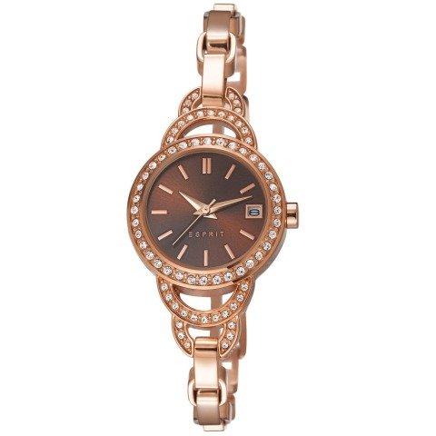 Esprit ES106732003 - Reloj analógico de cuarzo para mujer, correa de acero inoxidable chapado color oro rosa
