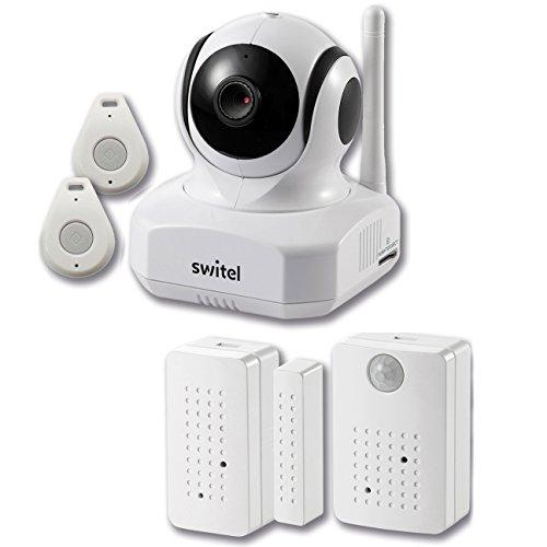 SWITEL BSW220 Hausalarmsystem Indoor mit Tür Fenster Bewegungs Sensoren Video HD Kamera 720p IP Smartphone Tag / Nacht Wireless weiß