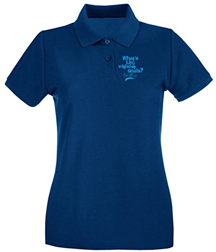 T-Shirtshock - Polo pour femme OLDENG00339 life without goals kids Bleu Navy