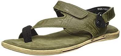 Woodland Men's Gd 1143112y15_Olive Green_8 Leather Outdoor Sandals-8 UK (42 EU) (9 US) 1143112Y15OLIVE