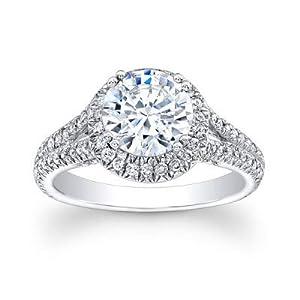 Damen-Ring Verlobungsring 14 Karat (750) massives Weißgold 2,20 Karat (750) Diamant Größe O P L M N H J G Q