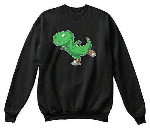 Teespring Men's Novelty Slogan Sweatshirt - Figure Skating T-rex Dino Winter Sports