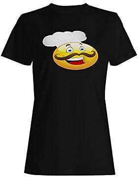 Novedad divertida de la historieta del appetit del bon del cocinero principal camiseta de las mujeres rr35f