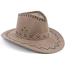 NYKKOLA - Cappello da Cowboy a tesa larga, per feste Country Western Rancher, accessorio per travestimenti