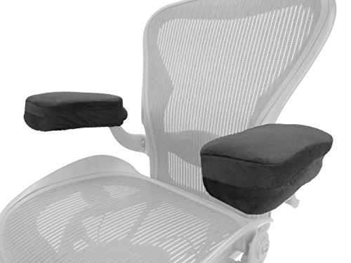 Arm-Eaz Armlehnen Polster für Bürostuhl und Spielstuhl, Memory-Schaum Arbeitsplatz Schreibtischstuhl Armlehnen Kissen für Ellenbogen Komfort (Büro-stuhl-armlehne-kissen)