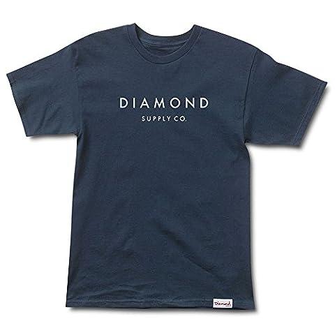 Diamond Supply Co. Men's Stone Cut SS T Shirt Blue