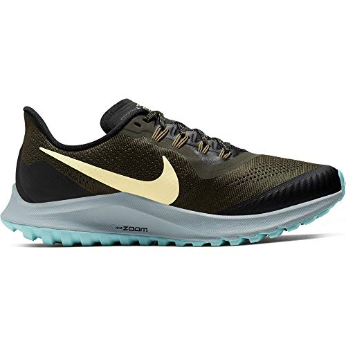 Nike Air Zoom Pegasus 36 Trail Women's Running Shoe Cargo Khaki/Team Gold-Black-Ocean Cube Size 7.5