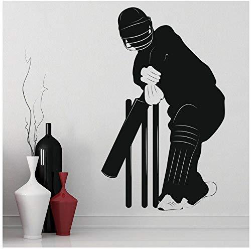 MINGKK Wandaufkleber Spielen Cricket Sport Wandaufkleber Fitnessraum Vinyl Wandtattoo Spielzimmer Dekoration Zubehör Für Wohnzimmer 57x93 cm