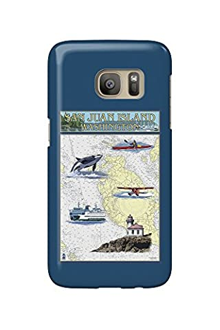 San Juan Island, Washington - Nautical Chart (Galaxy S7 Cell Phone Case, Slim Barely There)