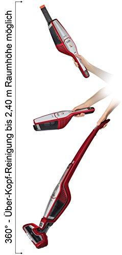 AEG ECO Ergorapido / CX7-35WR kabelloser 2in1 Staubsauger (beutellos, 35 Min. Laufzeit, Lithium-Power-Akku, Elektrobürste, 4 LED-Frontlichter) rot