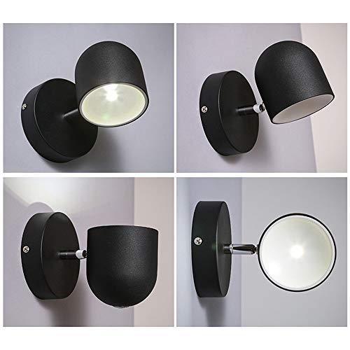 ZHYXZ Casual und Crazeable, Touch Pattern Wandleuchte Nachttischlampen Haus Treppenhaus Korridor Objektiv Projektor Zimmer mit Wohnzimmer Wandleuchte [Effektivität: A +] Schöne Lampen,Schwarzes weiße