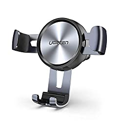 UGREEN Handyhalterung Auto Lüftung Autohalterung Handy Halterung Schwerkraft KFZ Handy Halter für Auto kompatibel mit iPhone 11 11 Pro XS XR X, Samsung S10 S9, Huawei P30 P20 Mate10, Navi bis 6.5 Zoll