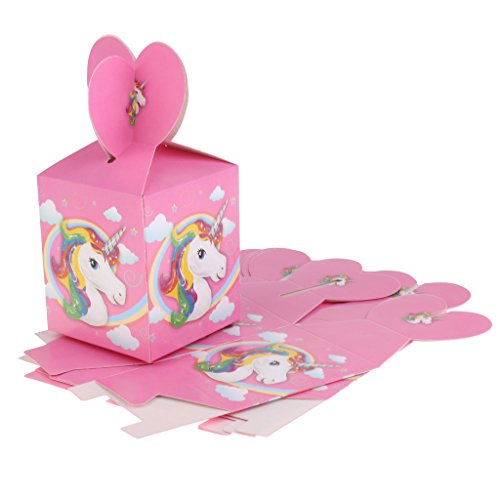 MagiDeal 6pcs Cajas de Dulces con Tema Unicornio Accesorios Decorativo de Fiesta Boda Mujer