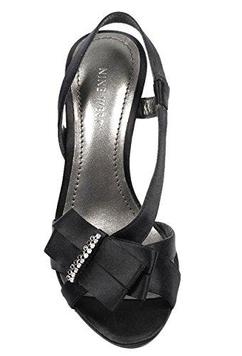 NINE WEST - Fionda Indietro Sandali Donna NWELSIA BLACK Tacco: 9 cm Nero