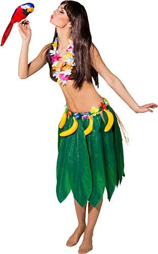 Blätterrock mit Bananen zum Hawaii Kostüm - Perfekt zu Südsee oder Hula Party (Jane Und Tarzan Kostüm)