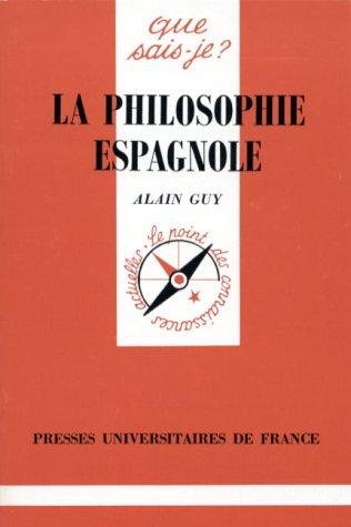 La philosophie Espagnole