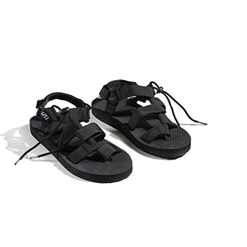 Sandálias Homens Vadear Sapatos De Moda Praia Do Verão Preto