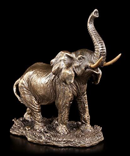 Unbekannt Pequeñas Elefantes Figura con Erhobenem Rüssel - de Pie Figura Decorativa,...